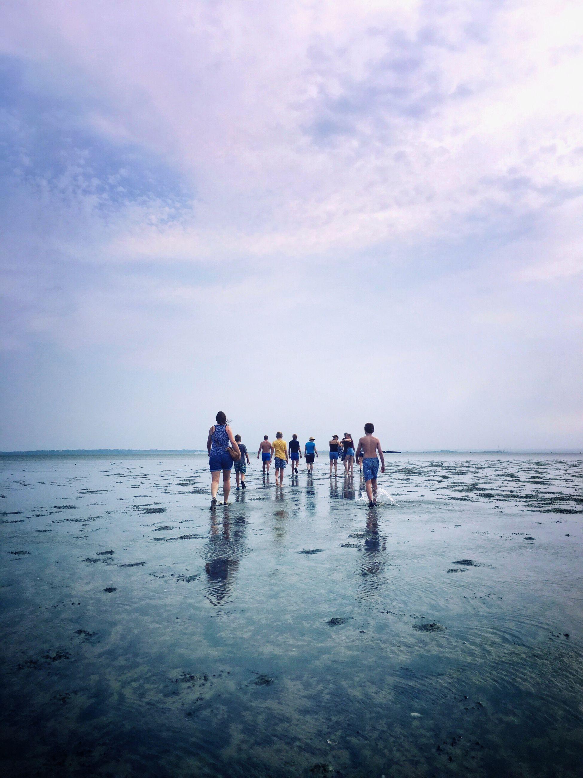 SILHOUETTE OF MAN ON BEACH