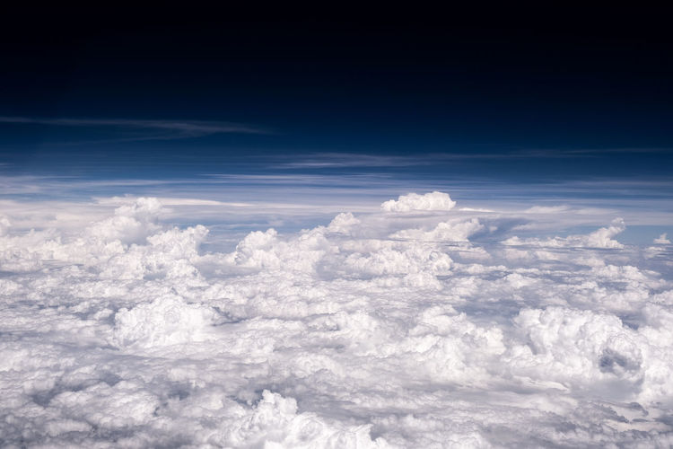Aerial view of clouds in sky