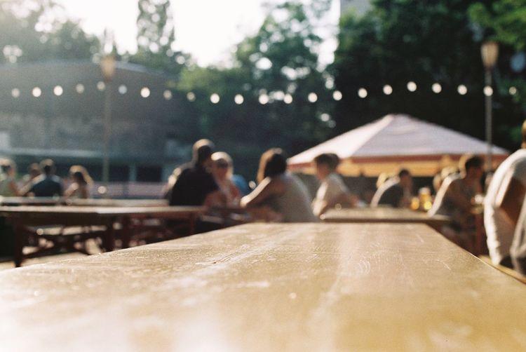 Blurry Canon AE-1 Filmisnotdead Summertime Berlin Pratergarten 35mm Film Sunny Day Table Filmcamera Analog Sunny Beer Beer Garden Biergarten Empty The Essence Of Summer Discover Berlin