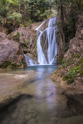 Beauty In Nature Day Forest Lampang   Thailand Long Exposure Motion Nature No People Outdoors Scenics Tree Water Waterfall