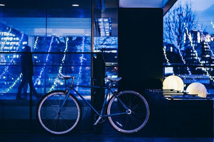Blue Town Bicycle Blue Silhouette Silouette And Shadows Light London Royal Festival Hall Alucyart Nikon D5100  Nikonphotography