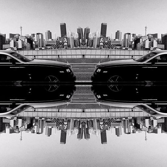 Johannesburg Wraith Rolls Royce City Cityscape Reflection