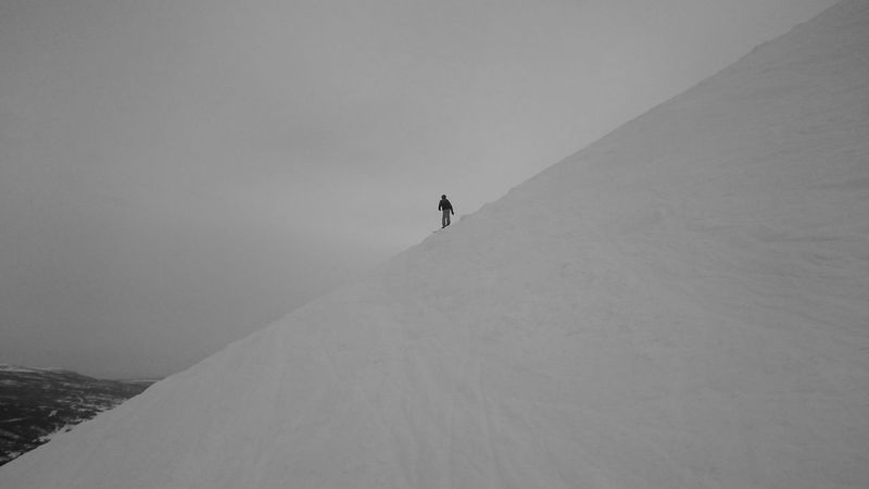 Steep Slope Tänndalen Downhill Black And White Snow Winter Cold Temperature Outdoors Landscape Nature