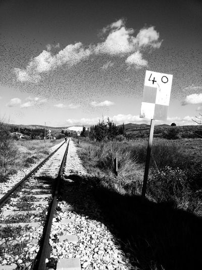 Railway Black & White EyeEm Best Shots - Black + White Nature Oldtrainrailway First Eyeem Photo