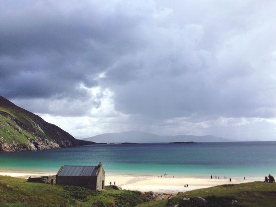 Irelandinspires Ireland Ireland🍀 Achill Achill Island West Of Ireland Wild Atlantic Way Keen Beach Sunshine Beach Beach Photography Beach Life Clouds And Sky Clouds And Beach Turquoise Water Atlantic Atlantic Ocean