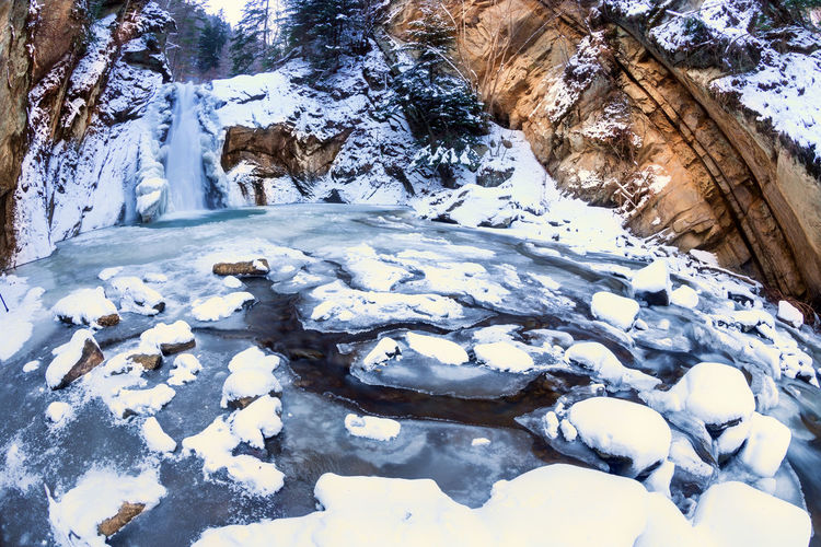 It's Cold Outside Showcase : January Winterscapes Cold Temperature Frozen Snow Winter Waterfall Made In Romania