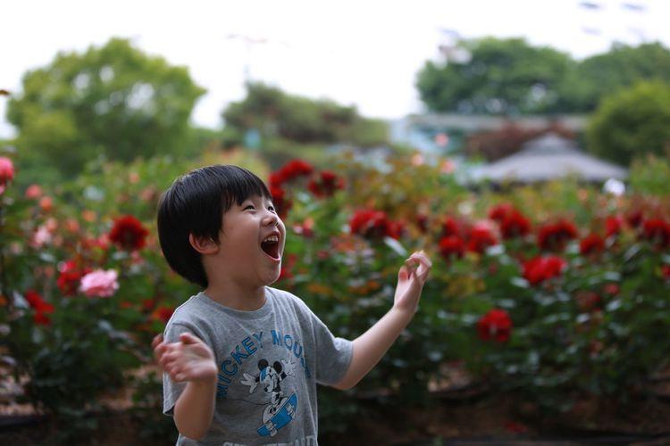 Son Family Pleasure Garden Garden Photography