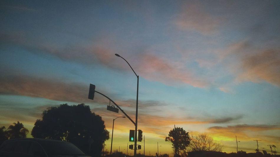 Sky Beautiful Amazing Bright Colors Street Clounds