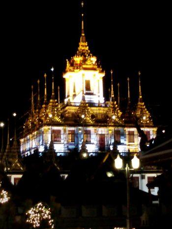 Loha Prasat( Metal Castle , Wat Ratchanaddaram, New Year Light, Bangkok, Nightphotgraphy, Street photography, Getting In Spired.