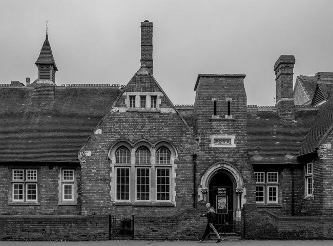 Former John Claire School, Kettering Road Architecture Street Urban Black And White Northampton Industrial Landscapes FUJIFILM X-T2 Monochrome Photography Kettering Road School