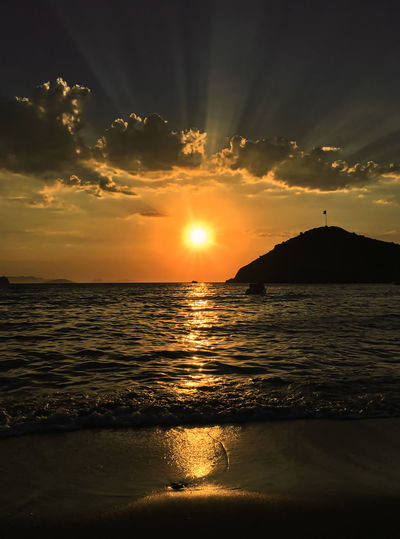 Gümüşlük sunset Water Sky Sunset Sea Scenics - Nature Beauty In Nature Cloud - Sky Tranquility Tranquil Scene Orange Color Idyllic Land Beach Sun Reflection Horizon Over Water Horizon Nature No People Outdoors Bodrum Gümüşlük Holiday Moments