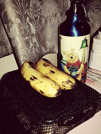 Good Morning Southeast Asia Breakfast Myfuel Banana Philippines oh! Pooh is here to have breakfast with me... All the way from the other part of the world. You're not asian right Pooh? Anayways, you're a fave of mine... Kidinme ⏰🍵