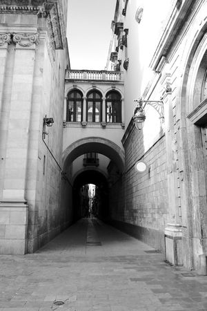 Tunnel To The Old Town Black & White Old Town Arch Architecture Blackandwhite Building Exterior Built Structure Day No People Outdoors The Way Forward