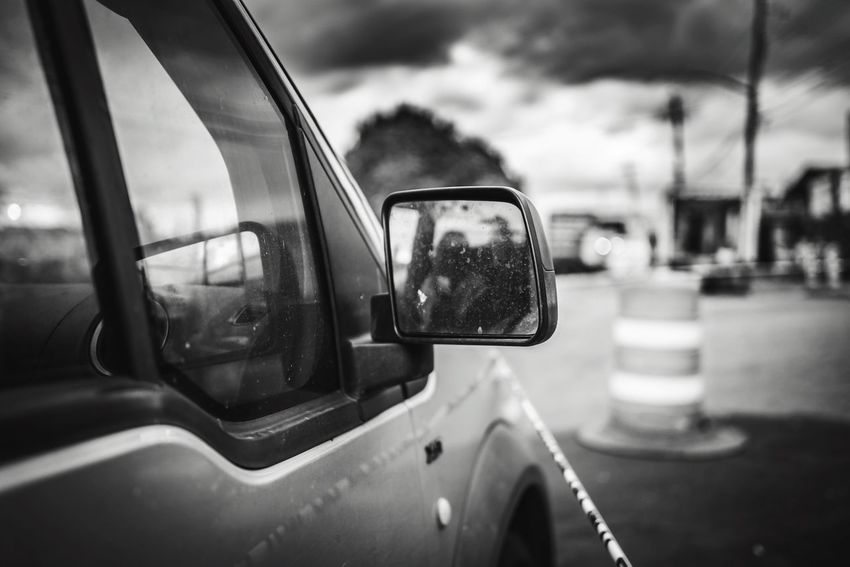 Transportation Mode Of Transport Land Vehicle Road Car Side-view Mirror Focus On Foreground Outdoors Sky No People Day Close-up Street Streetphotography Style Life City Artist ArtWork Art Is Everywhere Arts Culture And Entertainment Art Social Issues Lifestyles Photographer