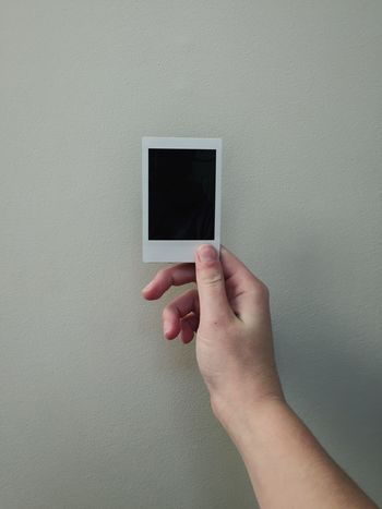 Human Hand Human Body Part Wall - Building Feature Human Finger Poloroid Picture Black Indoors  Close-up Adult People One Man Only Day Young Adult Adults Only
