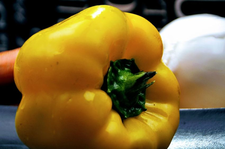 Yellow Pepper Close-up Food Food And Drink Freshness Healthy Eating Pepper Vegetable Yellow