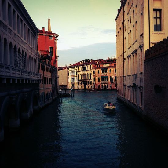 Grand canal amidst residential buildings