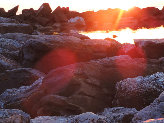 Amazing Amazing View Beautiful Beauty Beauty In Nature Beauty In Nature Glare Landscape Light Nature Outdoors Red Rock Rock - Object Rocks And Water Scenics Sea Sea And Sky Seascape Seaside Sun Sunset Tranquil Scene Tranquility View
