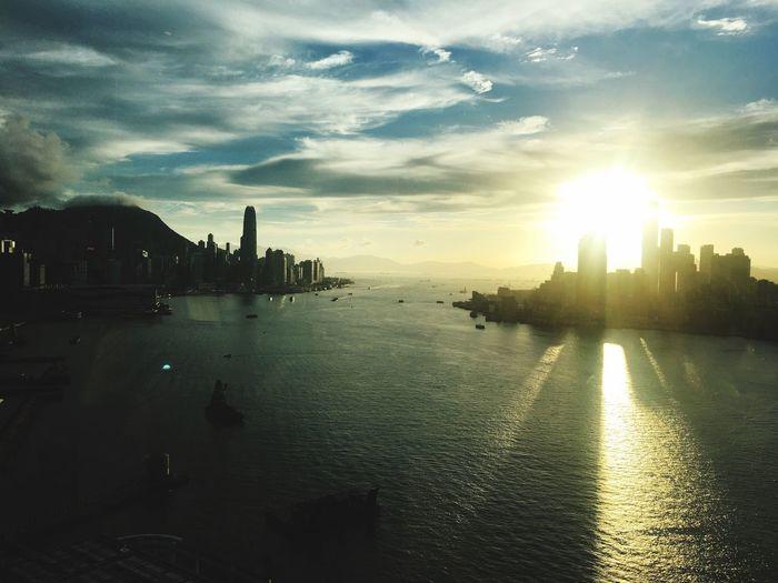 Sunset in Victoria Harbor Hong Kong First Eyeem Photo