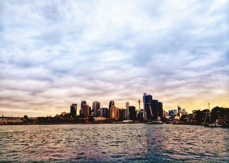 EyeEm Selects Architecture Urban Skyline Cityscape Cloud - Sky Skyscraper Sunset Sky City Travel Destinations No People Modern Outdoors Building Exterior Built Structure Illuminated Water Day Sydney, Australia