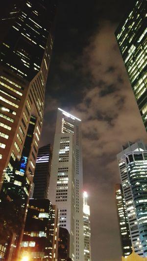 Concrete Jungle of Singapore CBD.