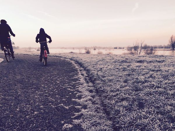 Cold and dreamy ride Ride A Bike  Cold And Frosty Freezing Morning Glow Landscape Here Belongs To Me Alternative Fitness