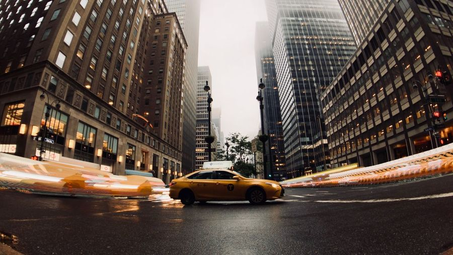 Moment Lens EyeEmNewHere IPhone 8 Plus ShotOnIphone Shotonmoment Long Exposure Nyc Taxi Yellow Cab NYC CAB Nyc Taxi New York New York City NYC Photography NYC City Car Yellow Taxi Motion City Street Taxi