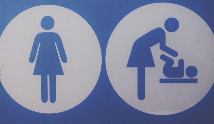Communication Human Representation Blue Wc Sign Sign Wc Lady Wc