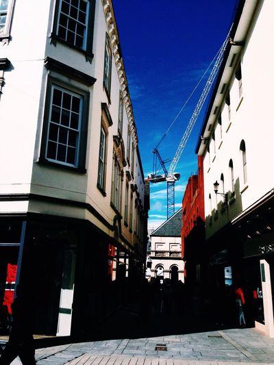 Blue Sky Likeforlike Followme Follow4follow Check This Out Exeter Shopping ♡ Colors Dark Light Shadow Urban Spring Fever