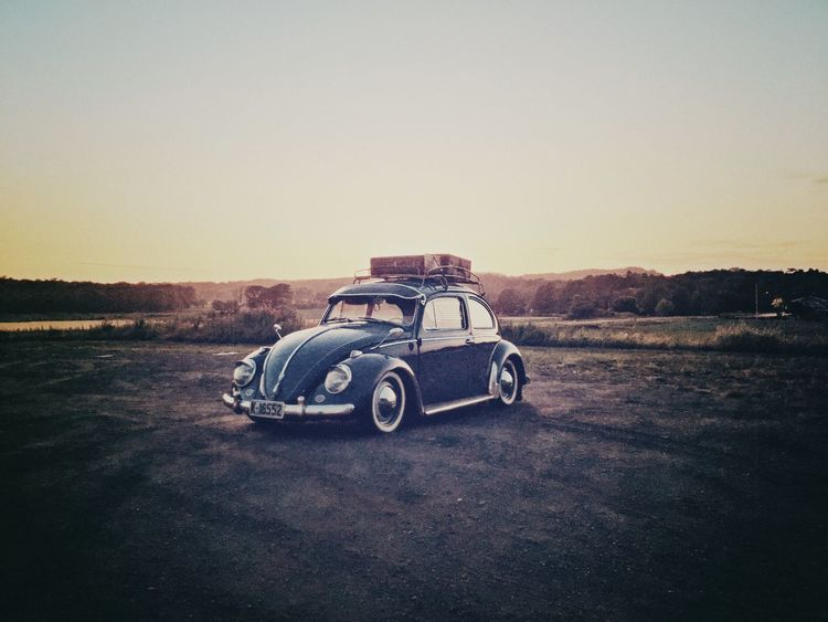 Lowandslow Bug VW Sky Transportation Mode Of Transportation Land Vehicle Nature Landscape No People