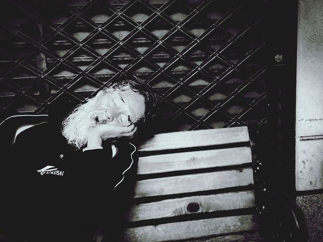 sleeper Sleep Monochrome Streetphotography Blackandwhite Street Street Portrait Life