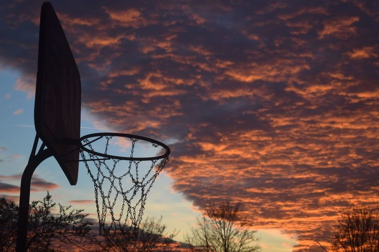 Basketball Hoop Sunset Cloud - Sky Outdoors Basketball - Sport Net - Sports Equipment