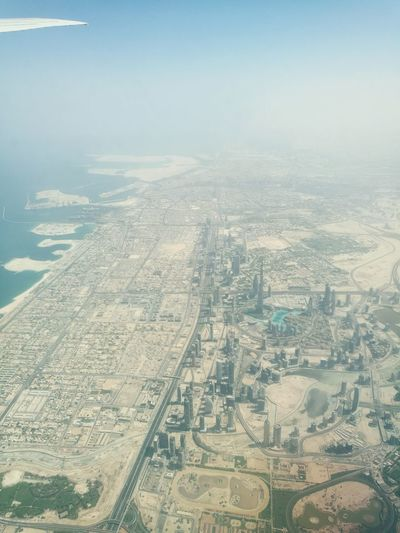 Dubai from above Neighborhood Map