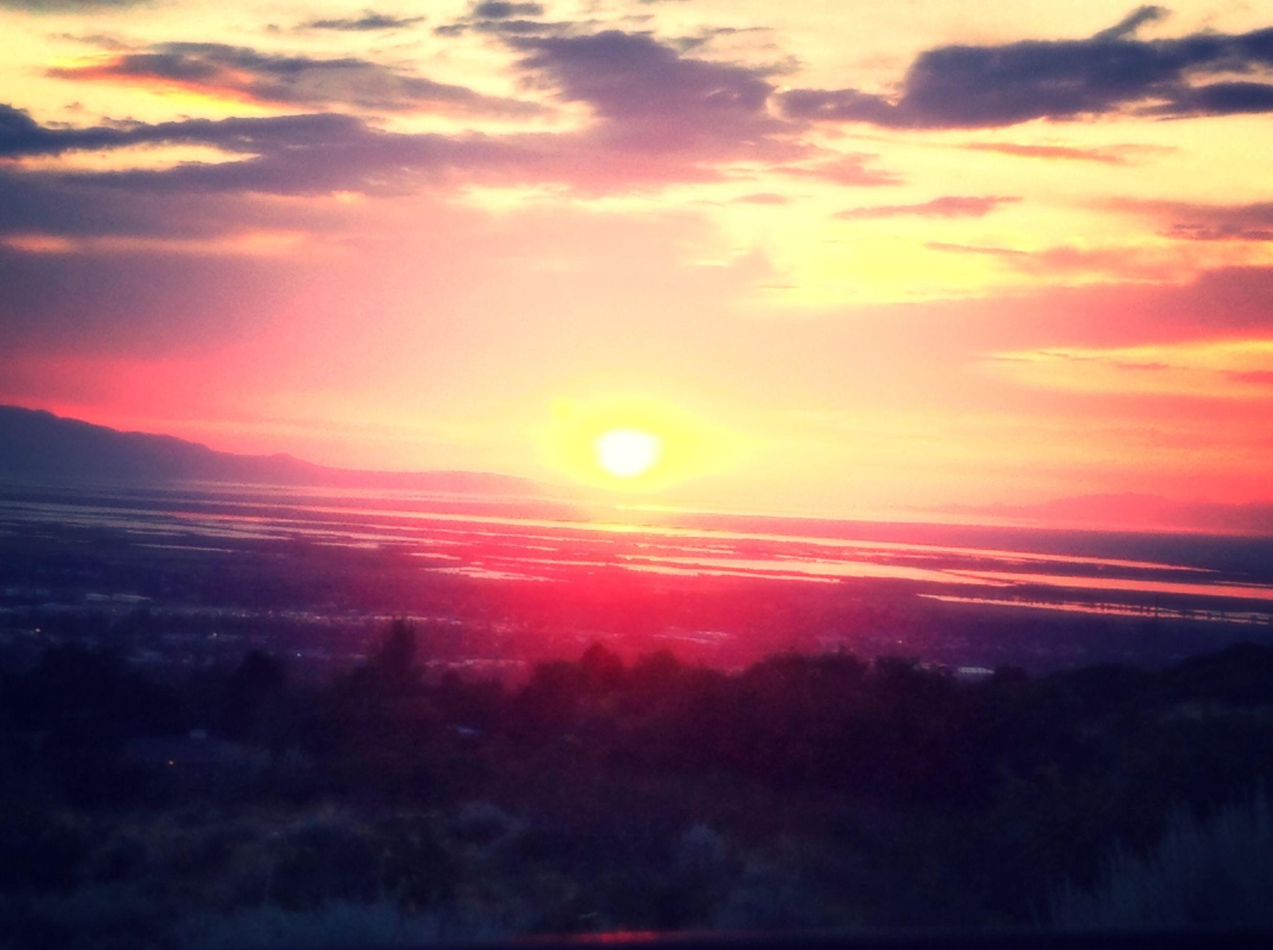 sunset, orange color, scenics, beauty in nature, tranquil scene, sky, tranquility, idyllic, nature, cloud - sky, silhouette, tree, dramatic sky, landscape, sun, outdoors, majestic, no people, cloud, non-urban scene