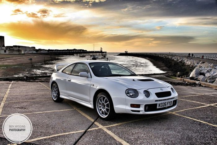 Gt4 Rally Car Toyota Mode Of Transportation Transportation Car Motor Vehicle Sky Cloud - Sky Land Vehicle Sunset Nature Water Outdoors Land Beach Sea Retro Styled Sunlight