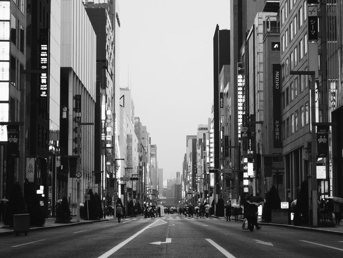 Black and white Blackandwhite City Architecture Building Exterior Built Structure Sign Road Communication Street City Street Building