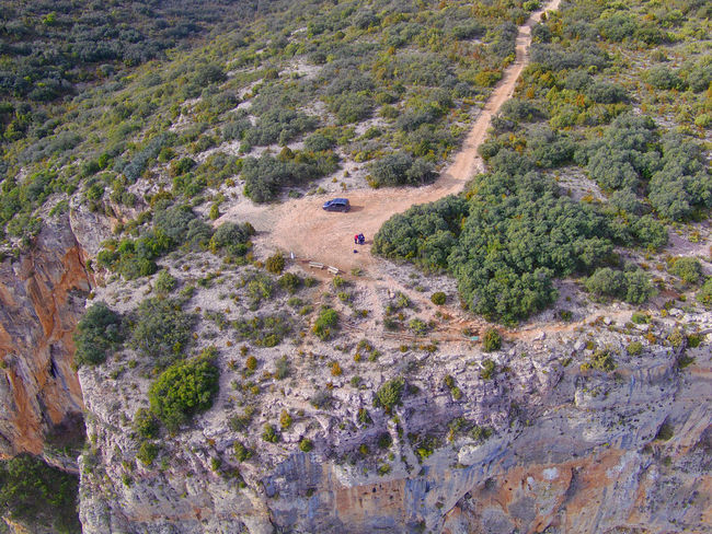 Drone  Nogera Pallaresa River Gorge In The Region Of La Noguera Province Of Lérida Rock Formation Beauty In Nature Day Drone Photography Landscape Nature No People Outdoors Scenics