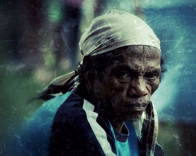 A tribal man from the mountains of Mindanao Outdoors Portrait Headshot One Person One Man Only Senior Adult One Senior Man Only Looking At Camera People Adult Close-up Headwear First Eyeem Photo