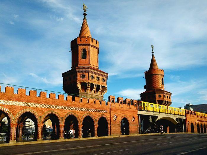 Historic Oberbaum Bridge Against Sky