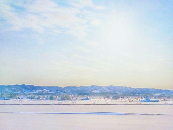Train to heaven🐹 Cloud - Sky Nature Brilliant Sky Hokkaido 北海道 自然 Winterlandscapes Landscape Photography Snow Sky Winter Sky And Clouds Naturelandscape Snowlandscape Train Landscape White Color Winterscapes Winter Sky Winter Wonderland Outdoors No People Blue Sky Skyscrapers