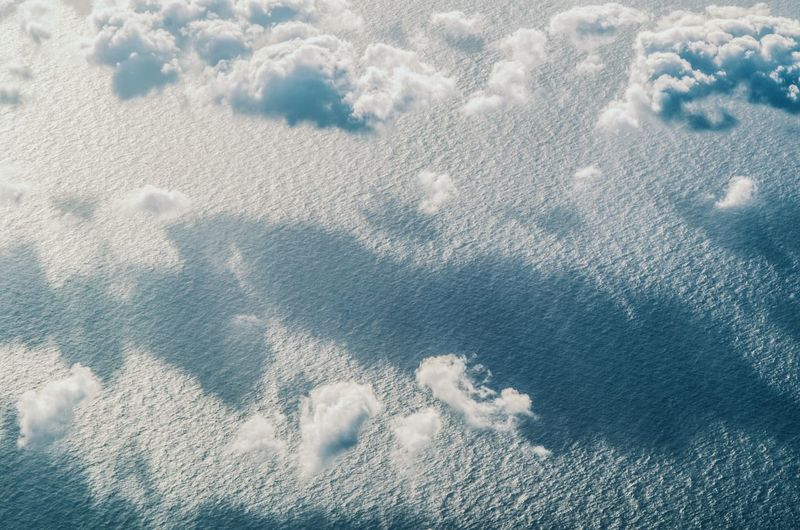 Above the fold Clouds Cloud - Sky EyeEm Selects Cloud - Sky Cloud - Sky Water Beach Backgrounds Full Frame High Angle View Close-up Surface