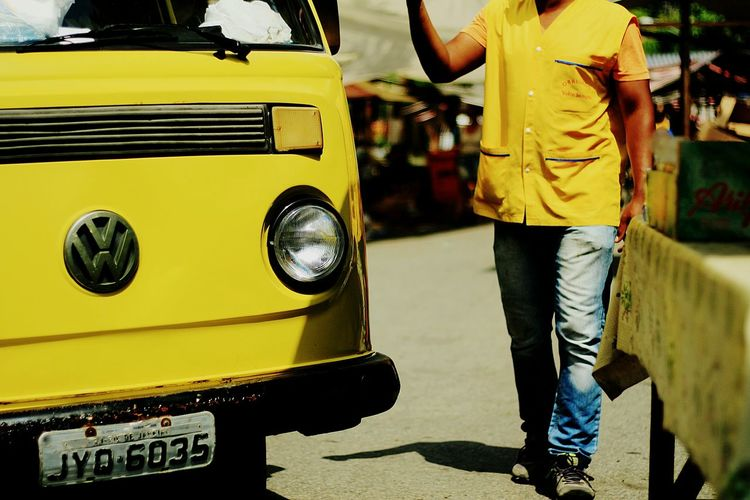 Yellow Yellow Transportation Outdoors Day One Person Fullofcolors Simple Beauty Lovephotography  Simple Moment Urban Exploration Embrace Urban Life Love Photography Life In Motion Urban City Colors Popular Market Popular Photos Classic Classic Cars Kombie 🚐 Classic Car Show The Drive. Bestphoto Kombi Love