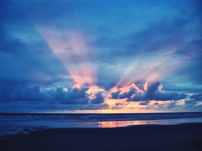 Sunset Goodbye Sun Beach Ocean View Walk In The Sand Oregon Coast Newport