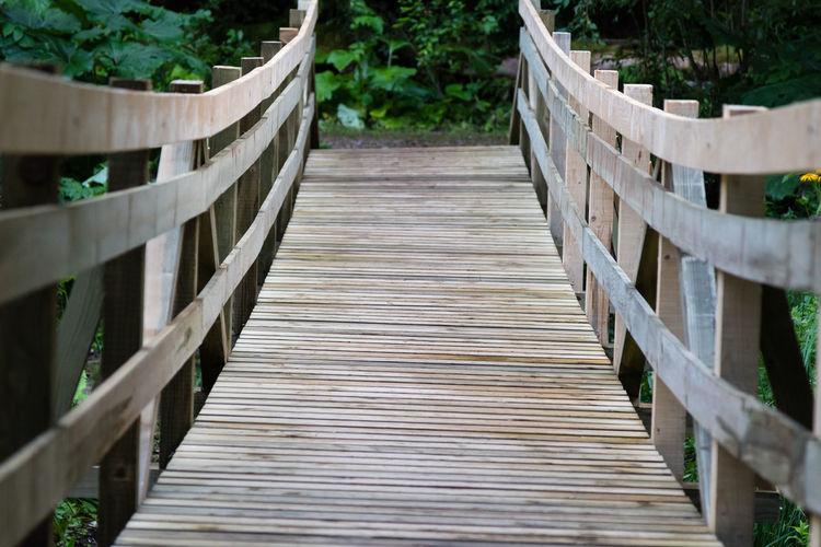 Boardwalk on footbridge