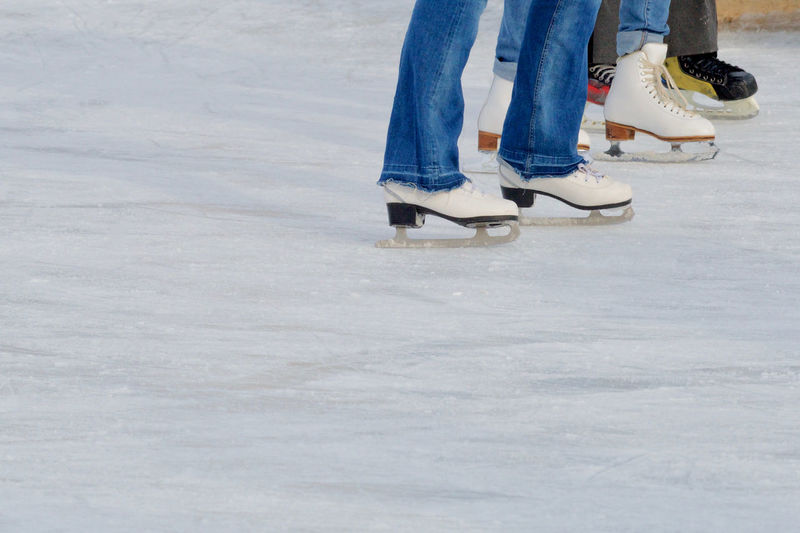 Skating Blue Jeans Childhood Cold Temperature Day Human Body Part Human Leg Ice Ice Rink Ice Skate Ice-skating Leisure Activity Lifestyles Low Section Nature One Person Outdoors People Real People Shoe Skating Snow Standing Warm Clothing Winter Winter Sport