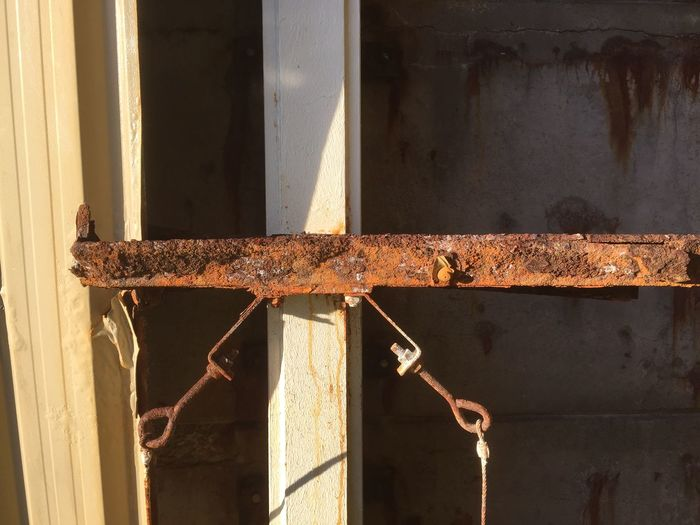 Rusty building support Steel Support EyeEm Selects Metal No People Sunlight Day Wall - Building Feature Rusty Close-up Outdoors Architecture Weathered Damaged Deterioration Built Structure Decline Old Textured