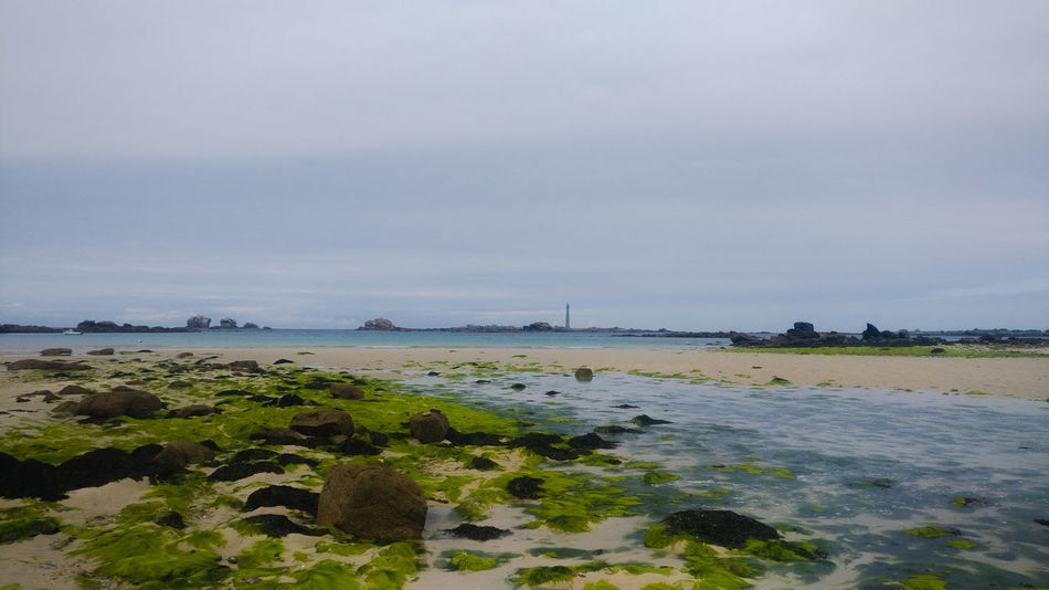 Beach Sea Tranquility Beauty In Nature Water Phare De L'île Vierge Bretagne