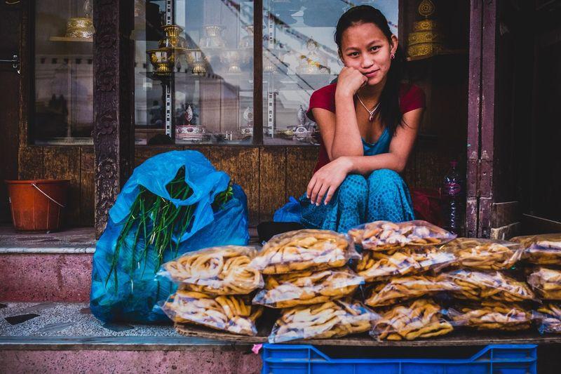 Girl at the stupa