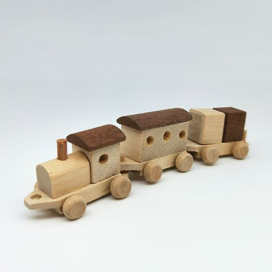 White Background Brown Train Brown Color Train Toy Train Wooden Train Display Children Toys No People Indoors  Close-up