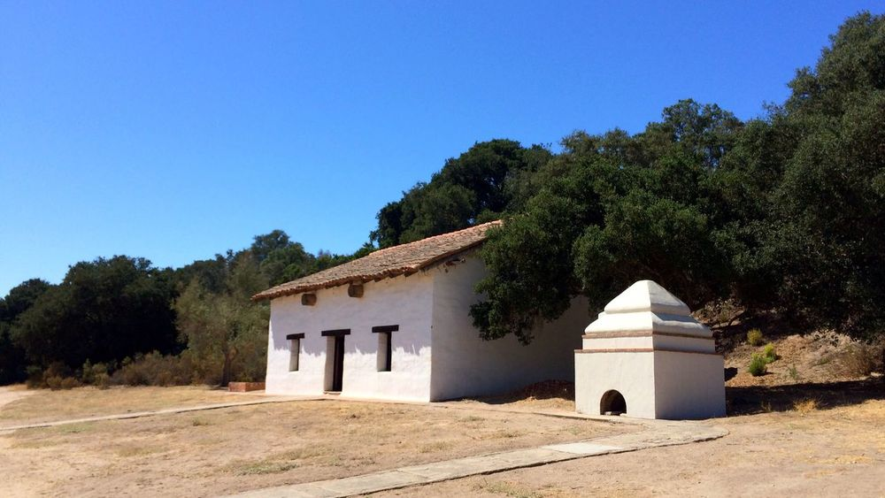 Architecture Tree Built Structure Building Exterior Blue No People House Clear Sky Outdoors History Sky Day Nature La Purisima Mission